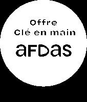 Logo du partenariat entre PLB et l'OPCO Afdas pour les formations Télécom clé en main