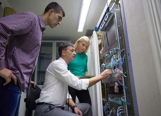 Stagiaire suivant une formation IBM
